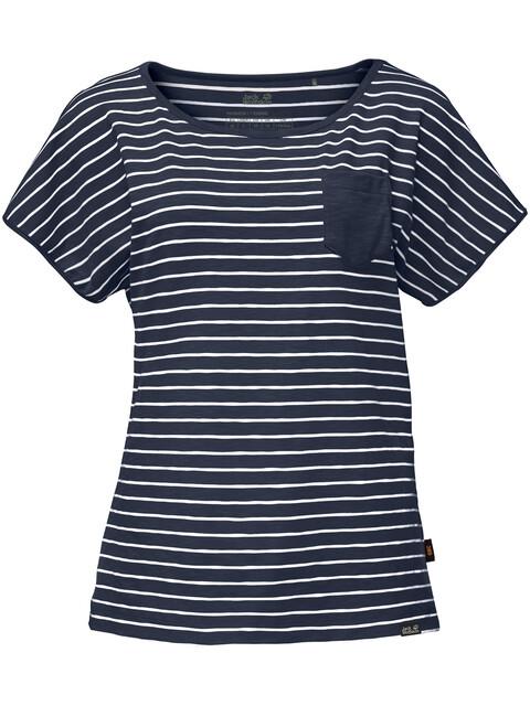 Jack Wolfskin Travel - T-shirt manches courtes Femme - bleu/blanc